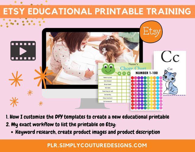 Etsy Educational Printable Training