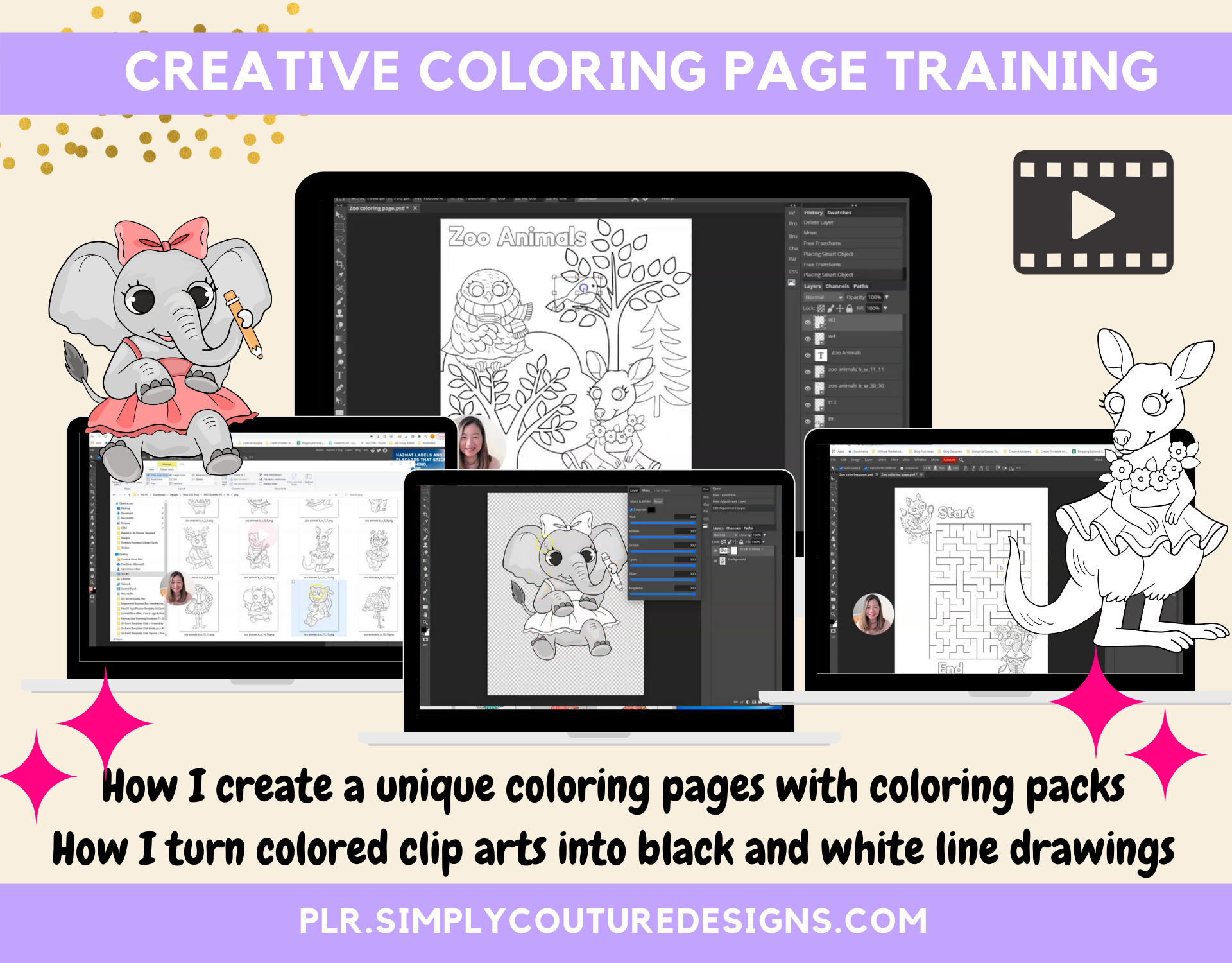 Creative Coloring Page Training