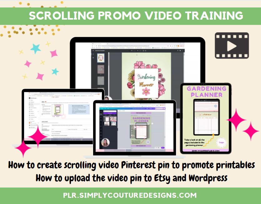 Scrolling Promo Video Training