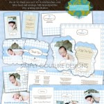 Blue Lace Newborn Business and Marketing Collection