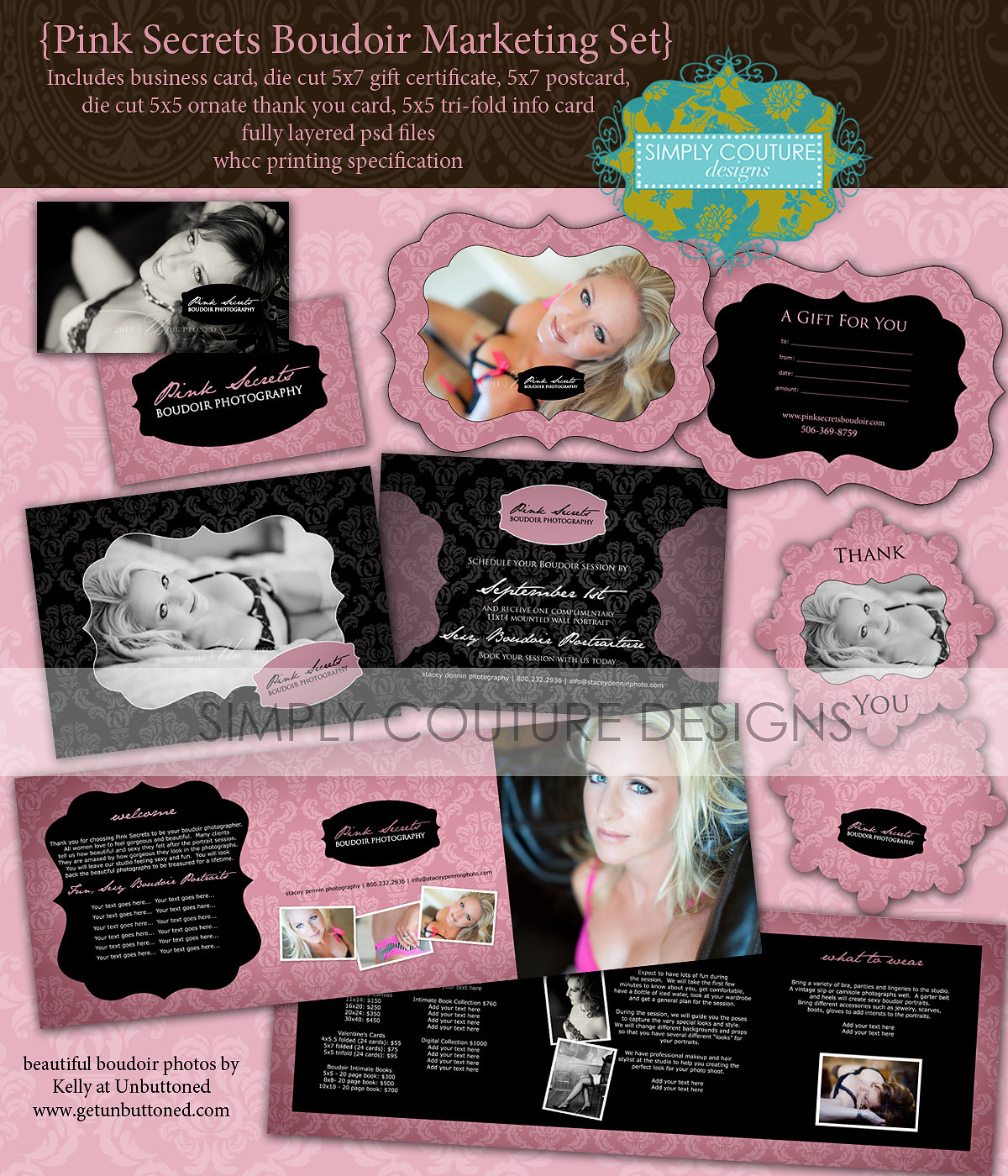 Introducing A New Set Of Boudoir Al Templates Pink Secrets Collection It
