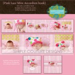 Pink Lace Mini Accordion Book templates