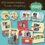 Modern Holidays Collection - 5 - 5x7 and 5x5 flat card designs