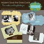 Modern Save the date templates