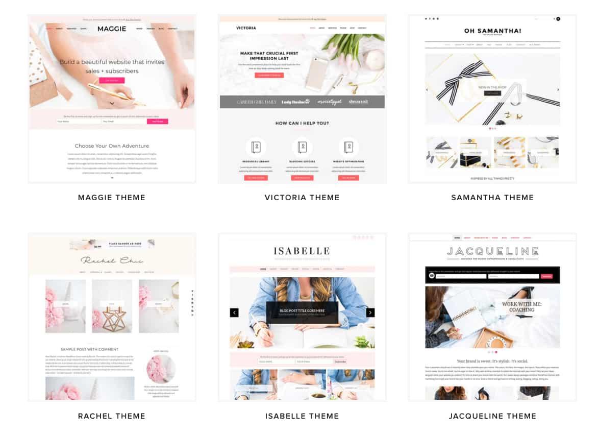 Bluchic feminine WordPress theme