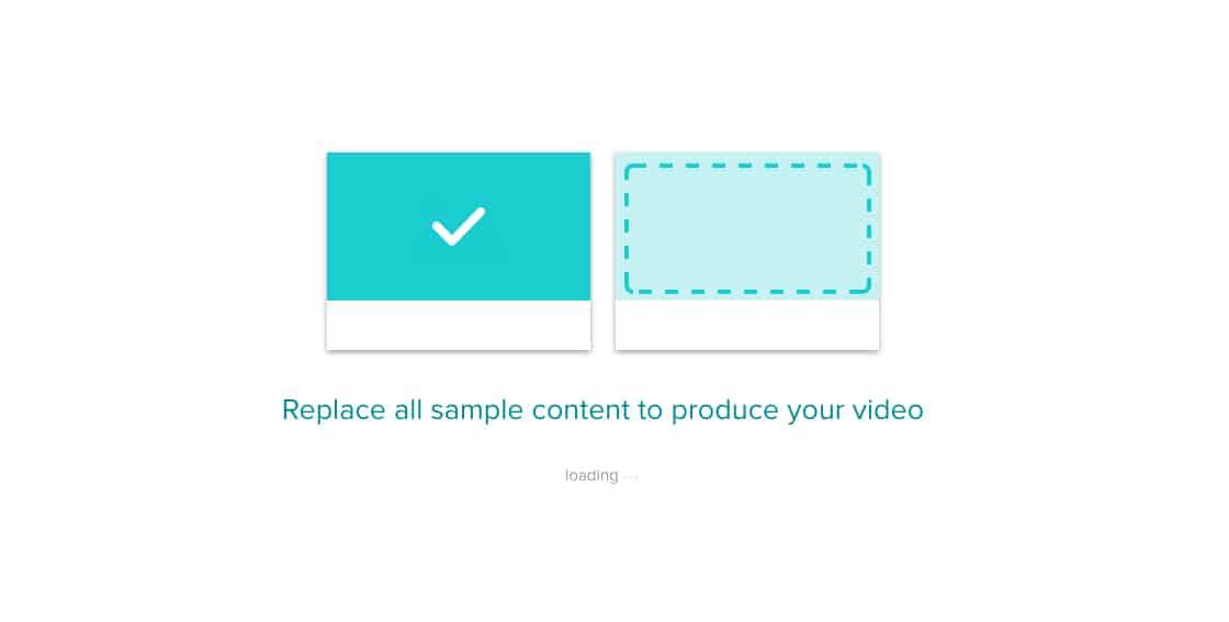Animoto replace sample photos