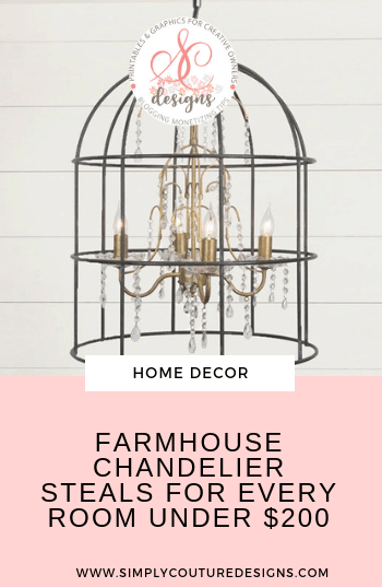 Beautiful Farmhouse chandelier steals under $200. Who doesn't love farmhouse chandeliers, especially at an affordable price!? Check out these gorgeous farmhouse light fixture chandeliers in such great price before they get sold out.