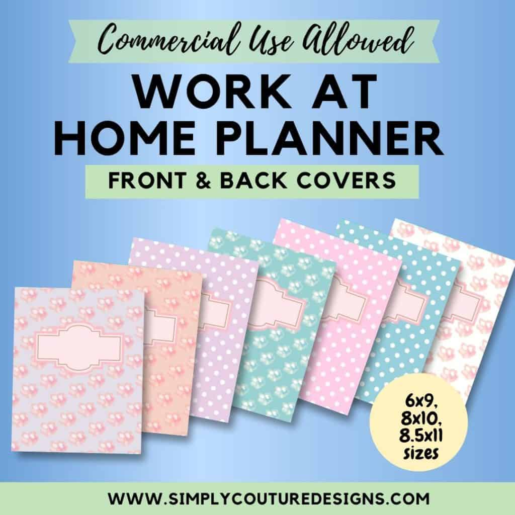 Pastel Floral pattern front and back covers