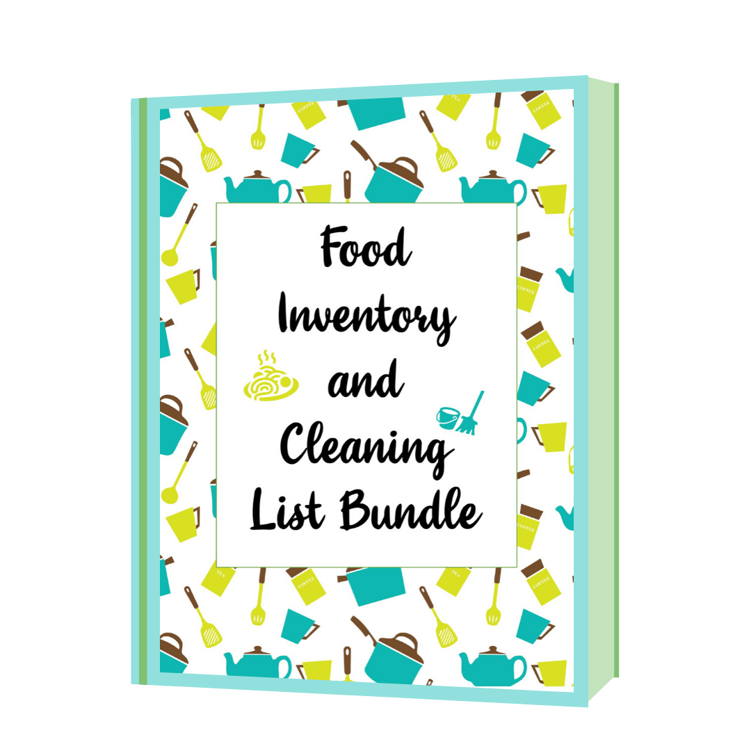 Food Inventory and House Cleaning List Printable Template Commercial Use allowed