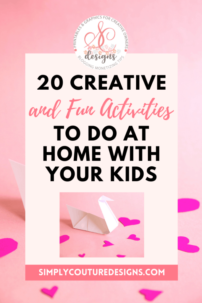 creative and fun activities to do at home with your kids #stayathome #homewithkids #homeactivities #funactivities #stayhomewithkids #funkidsactivities