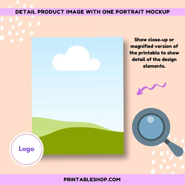 Etsy Printable Product Image Mockup Template by SCD